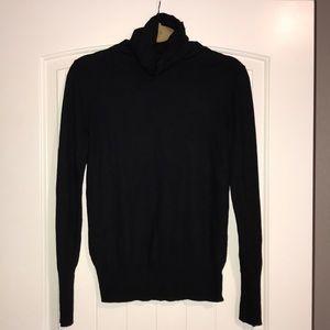 Black Cowl-neck Sweater